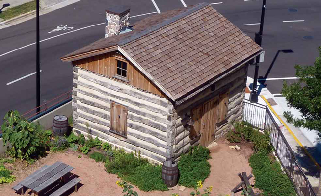 Log cabin exhibit